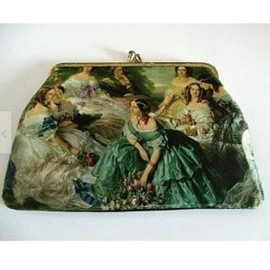 Vintage Clutch Coin Purse Neoclassical Romantic